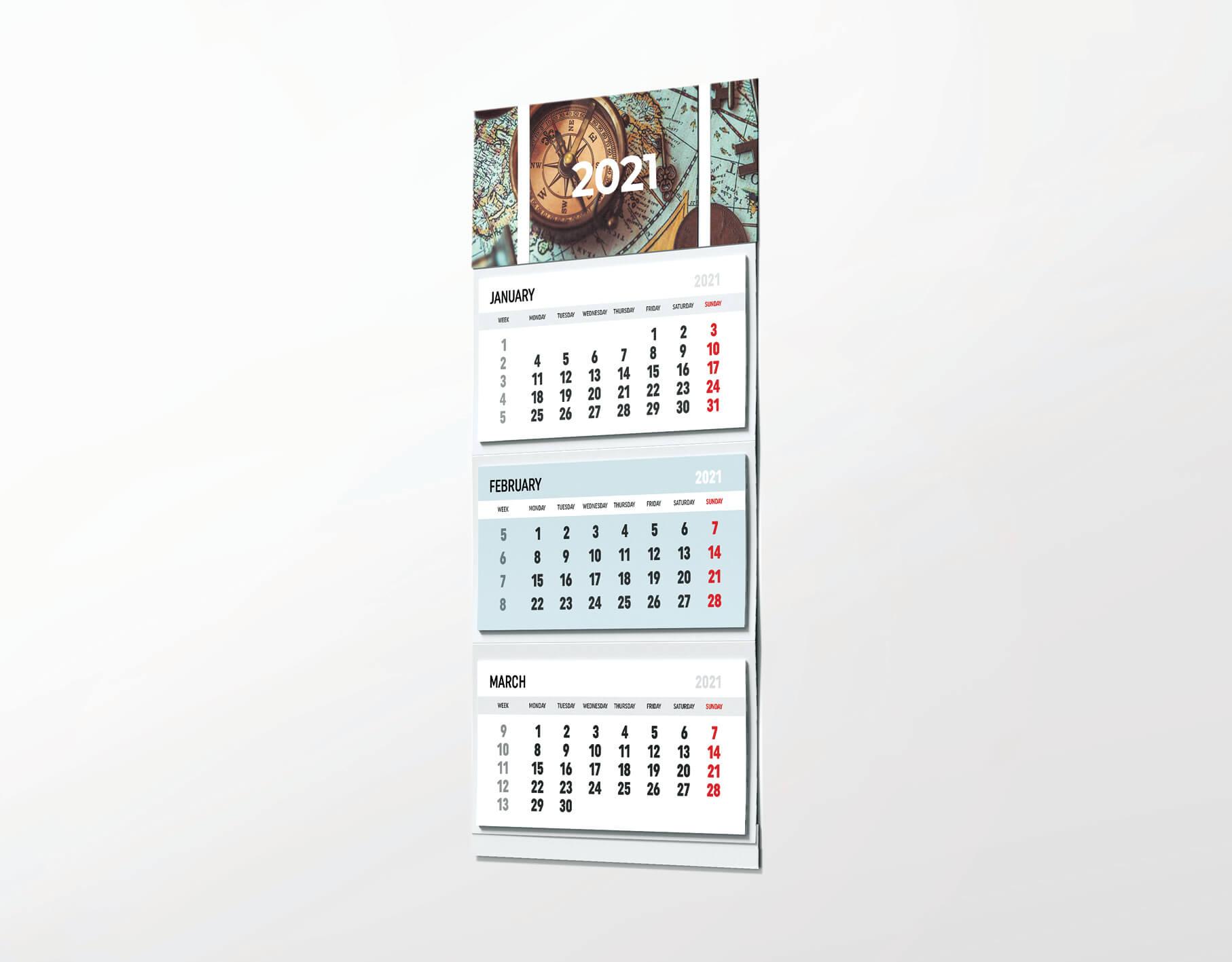 Триделен ѕиден календар